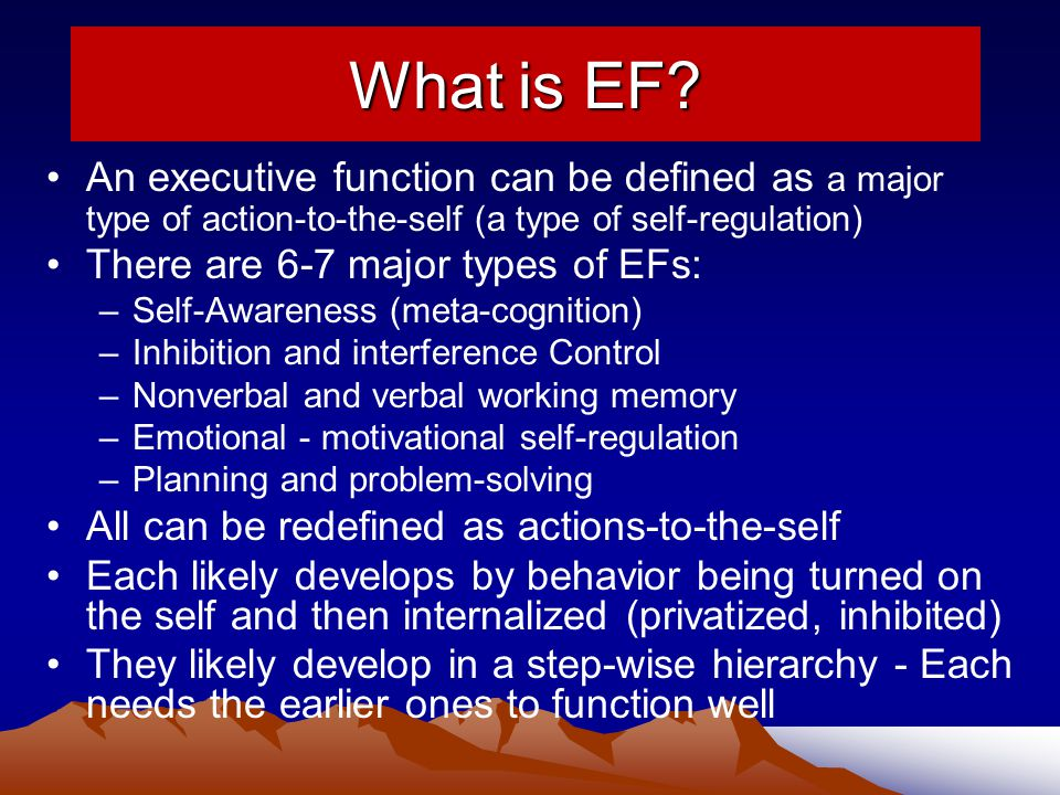 What is EF.