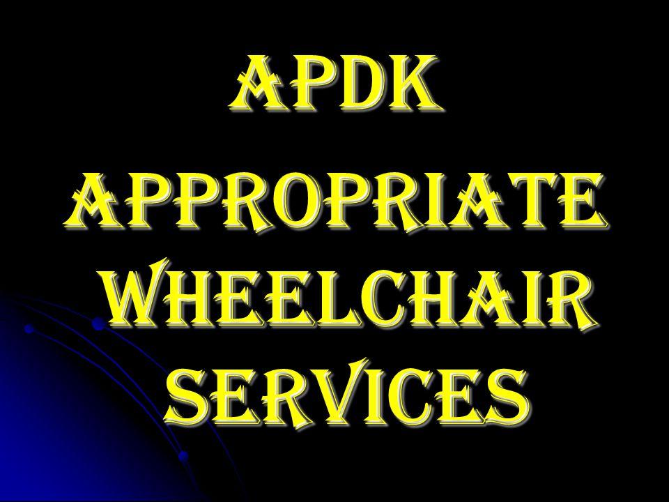 APDK Appropriate wheelchair services