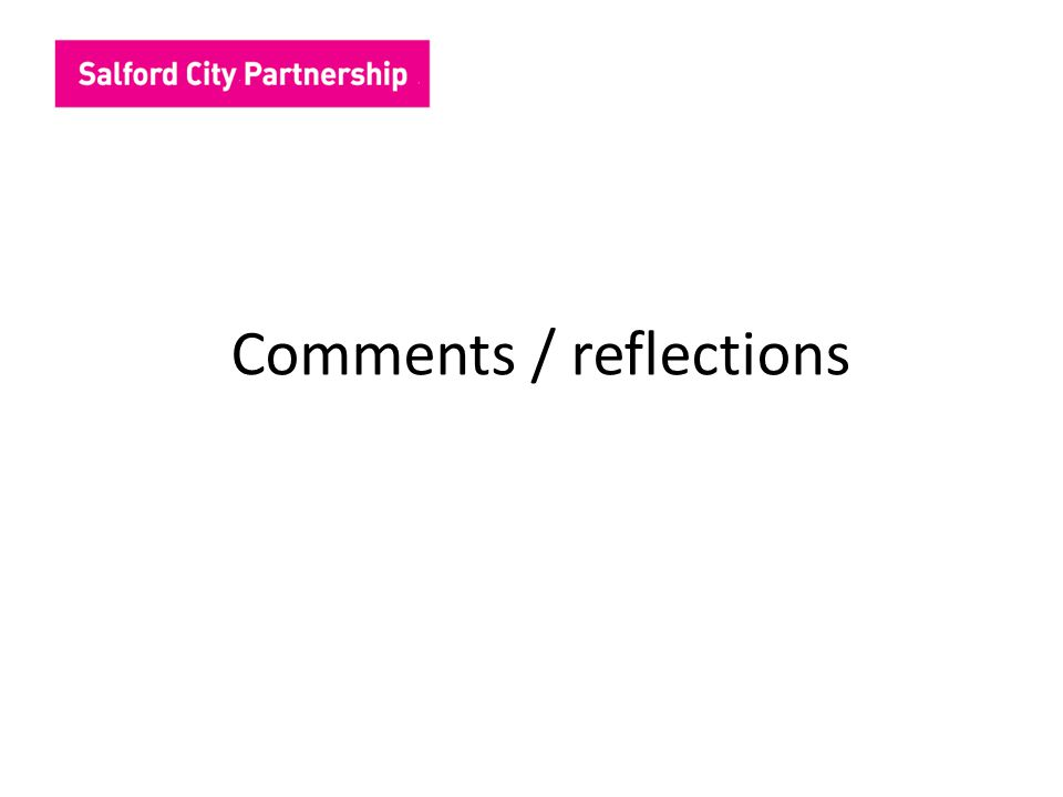 Comments / reflections