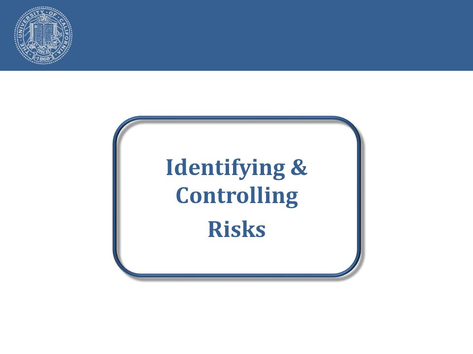 Identifying & Controlling Risks
