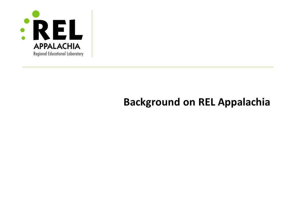 Background on REL Appalachia