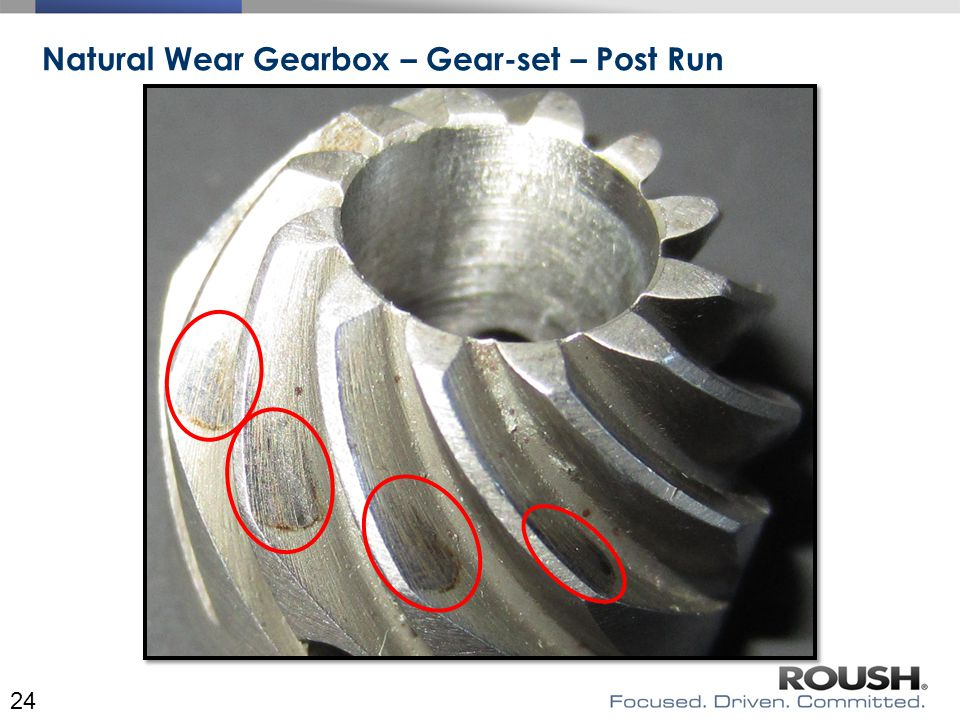 Natural Wear Gearbox – Gear-set – Post Run 24
