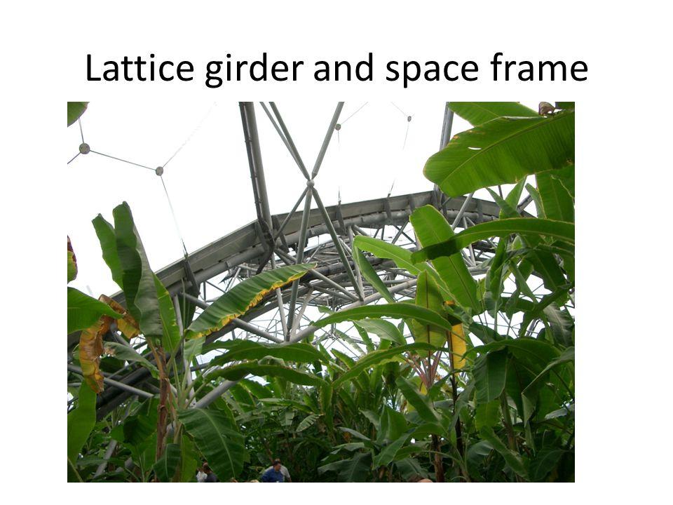 Lattice girder and space frame