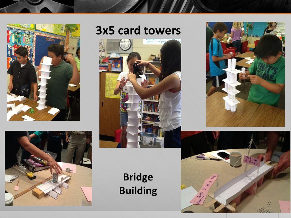 3x5 card towers Bridge Building