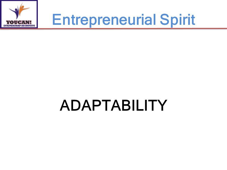 ADAPTABILITY Entrepreneurial Spirit