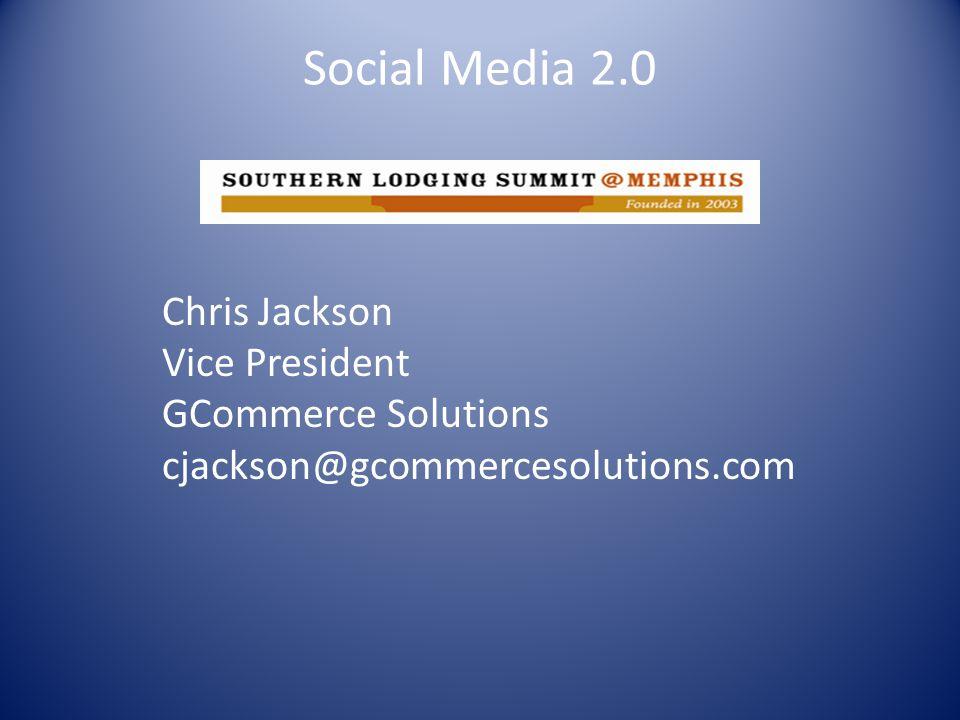 Social Media 2.0 Jerry Stafford Regional Director of Revenue Management Davidson Hotels & Resorts jstafford@DavidsonHotels.com