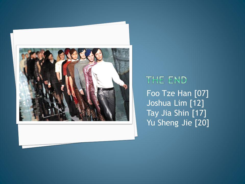 Foo Tze Han [07] Joshua Lim [12] Tay Jia Shin [17] Yu Sheng Jie [20]