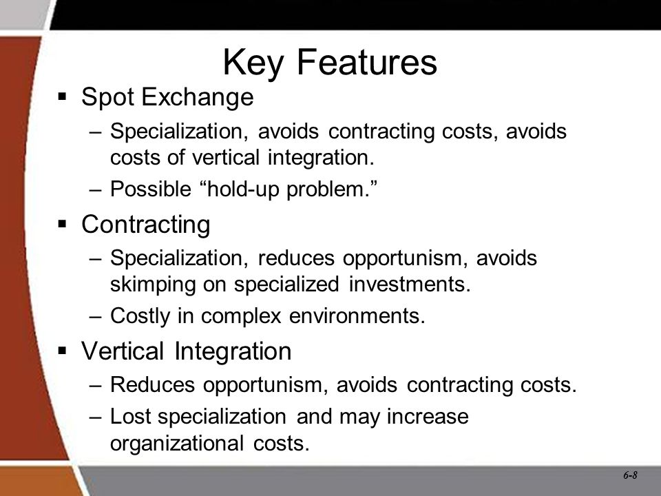 6-9 Transaction Costs  Costs of acquiring an input over and above the amount paid to the input supplier.