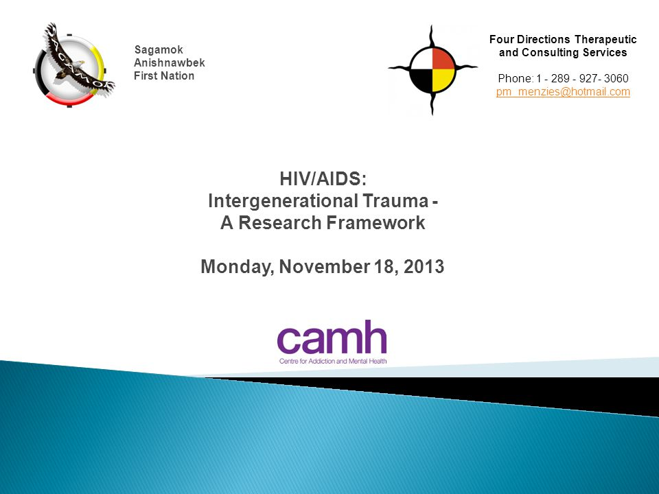  Understanding of intergenerational trauma  Impact  Conceptualization of practice and research