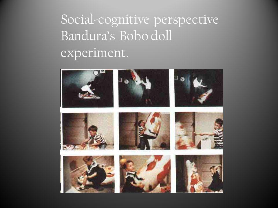 Social-cognitive perspective Bandura's Bobo doll experiment.