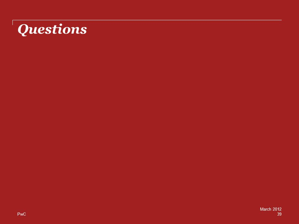 PwC Questions 39 March 2012