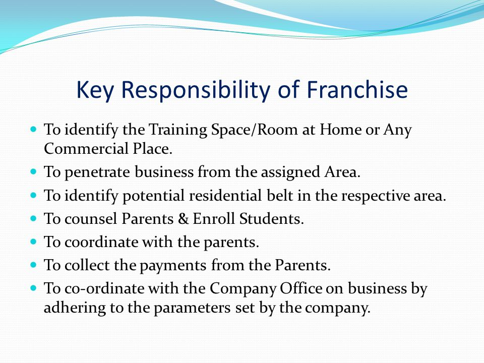 Services Chart AVAS( To Franchise ) 1. Technical Training for Teachers.