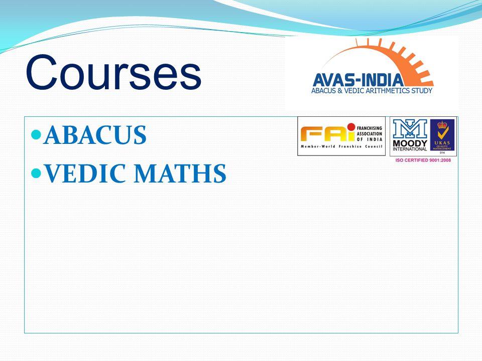 Abacus & Vedic Arithmetic s Study 202,203 Plot No.3,Garg Trade Center, Sector–11,Rohini,New Delhi – 110087 Mobile No.