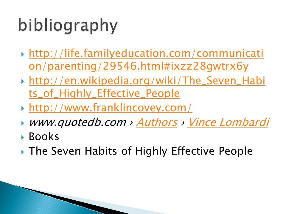  http://life.familyeducation.com/communicati on/parenting/29546.html#ixzz28gwtrx6y http://life.familyeducation.com/communicati on/parenting/29546.htm