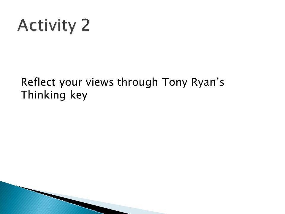 Reflect your views through Tony Ryan's Thinking key