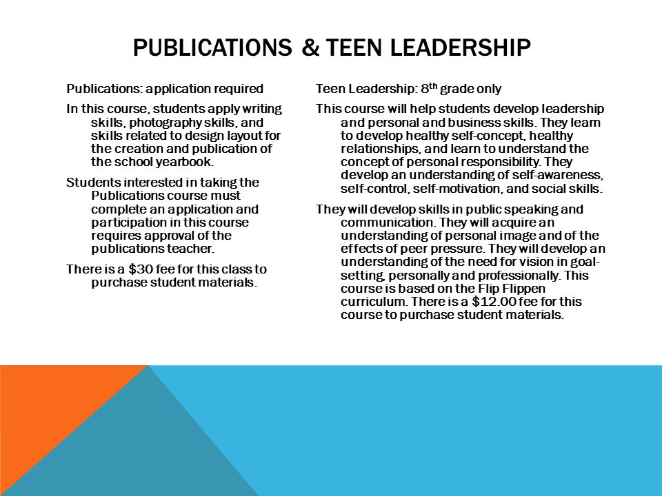 Publications: application required In this course, students apply writing skills, photography skills, and skills related to design layout for the crea