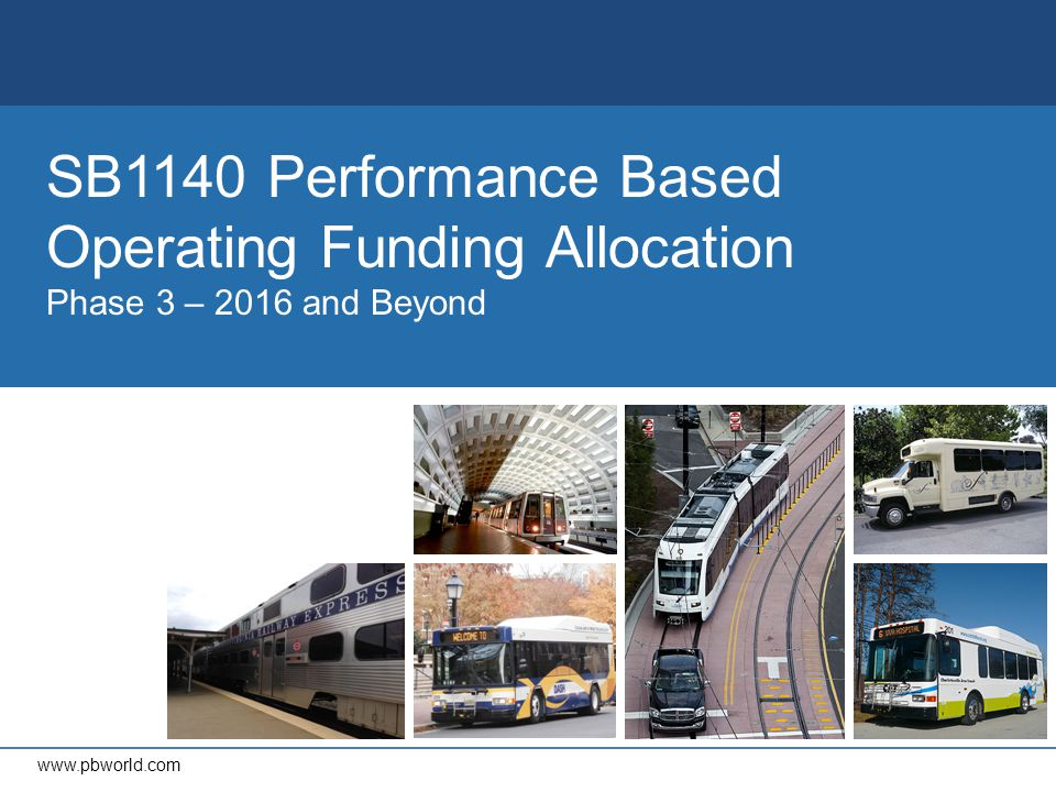 Virginia Department of Rail and Public Transportation Transit Funding CTB Transit Formulas New capital and operating formulas adopted in December 2013 Performance metrics based on: Net cost per rider (50%) Customers per revenue hour (25%) Customers per revenue mile (25%) Systems are sized equally based on ridership and operating costs – sized relative to all transit operators eligible for state assistance Capital allocations based on set percentages for asset categories