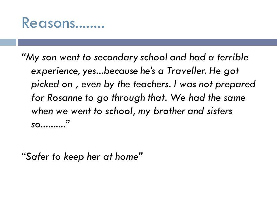 Reasons........