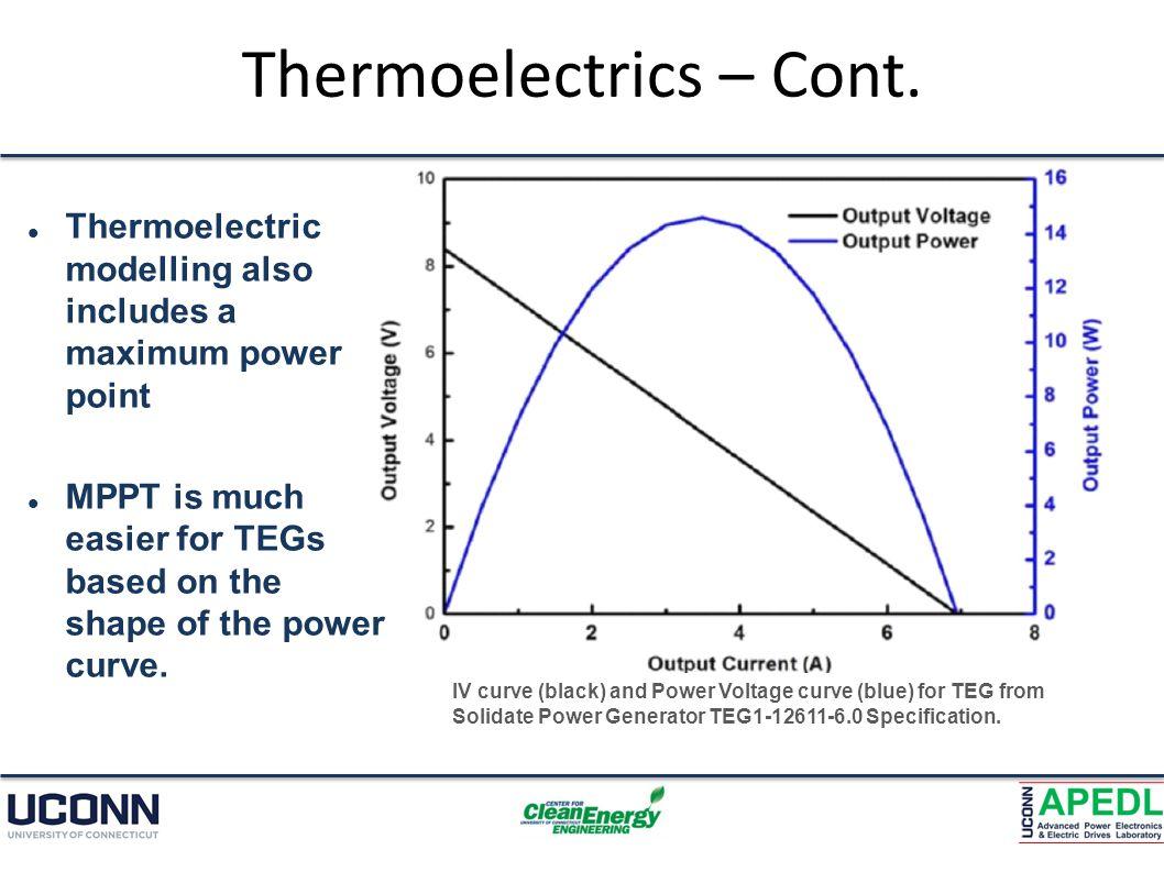 Thermoelectrics – Cont.