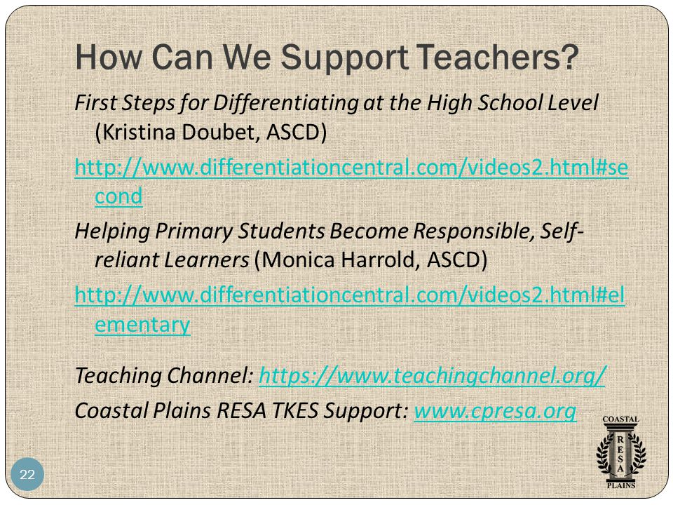 How Can We Support Teachers.