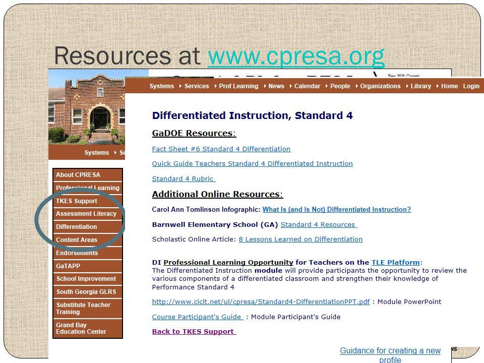 Resources at www.cpresa.orgwww.cpresa.org