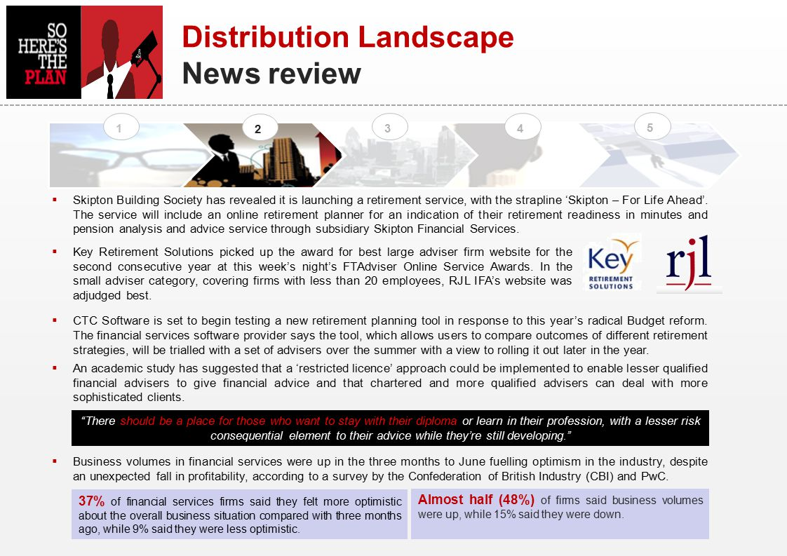 Distribution Landscape News review 1 2 34 5  Skipton Building Society has revealed it is launching a retirement service, with the strapline 'Skipton – For Life Ahead'.