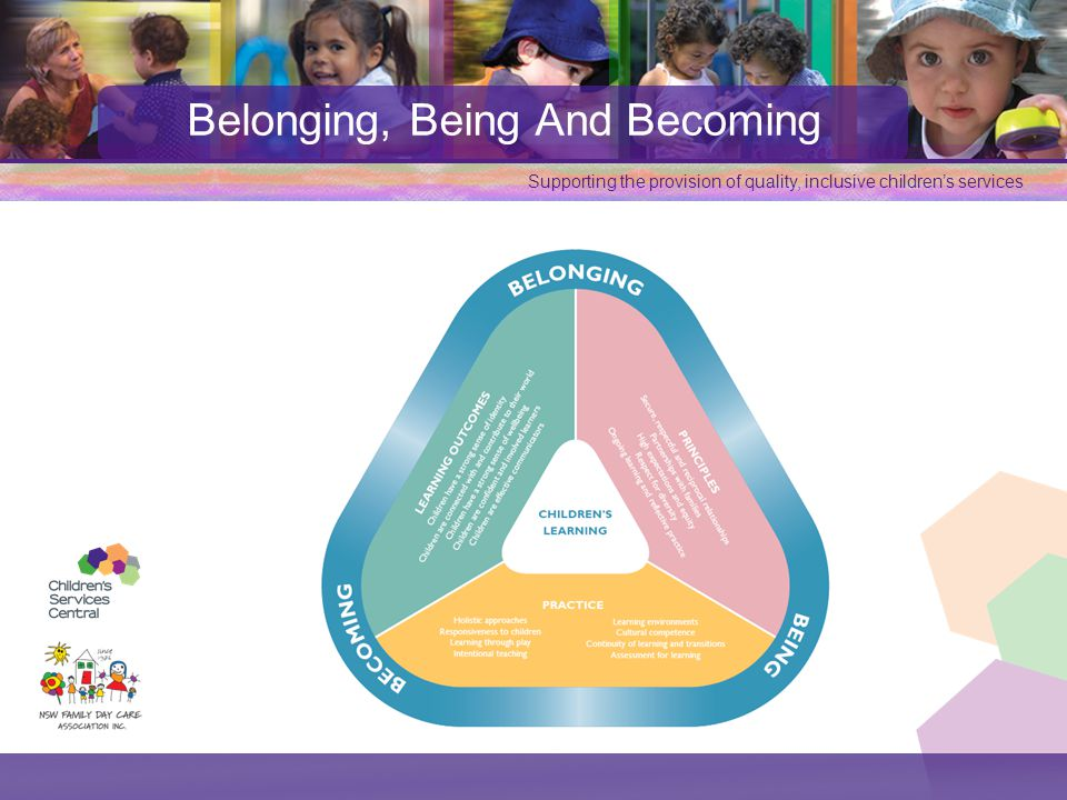 Supporting the provision of quality, inclusive children's services Belonging, Being And Becoming