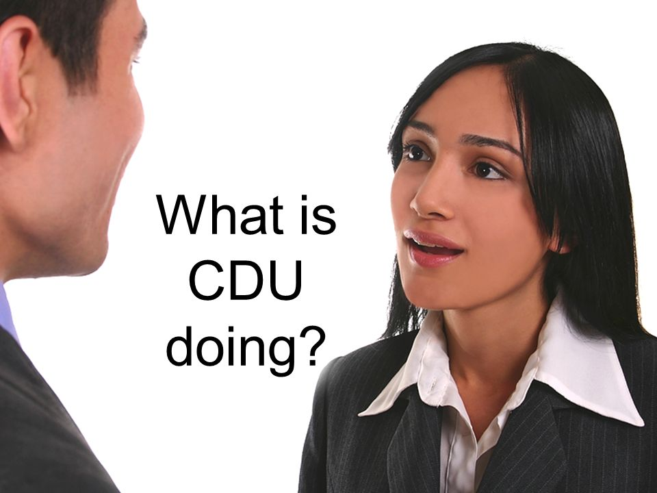 What is CDU doing?