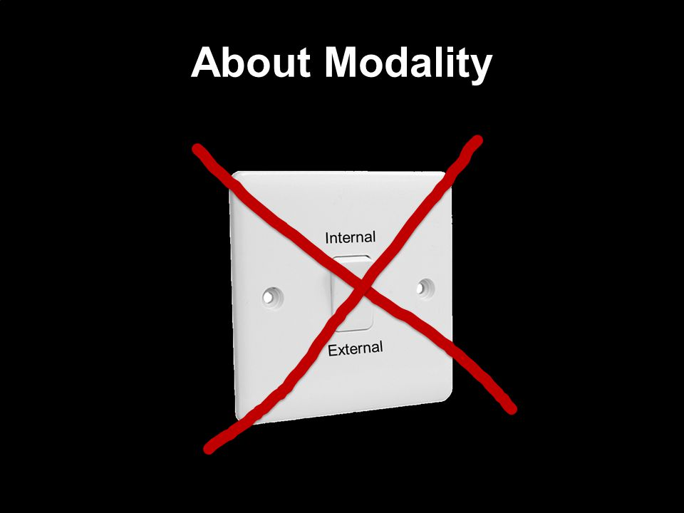 About Modality