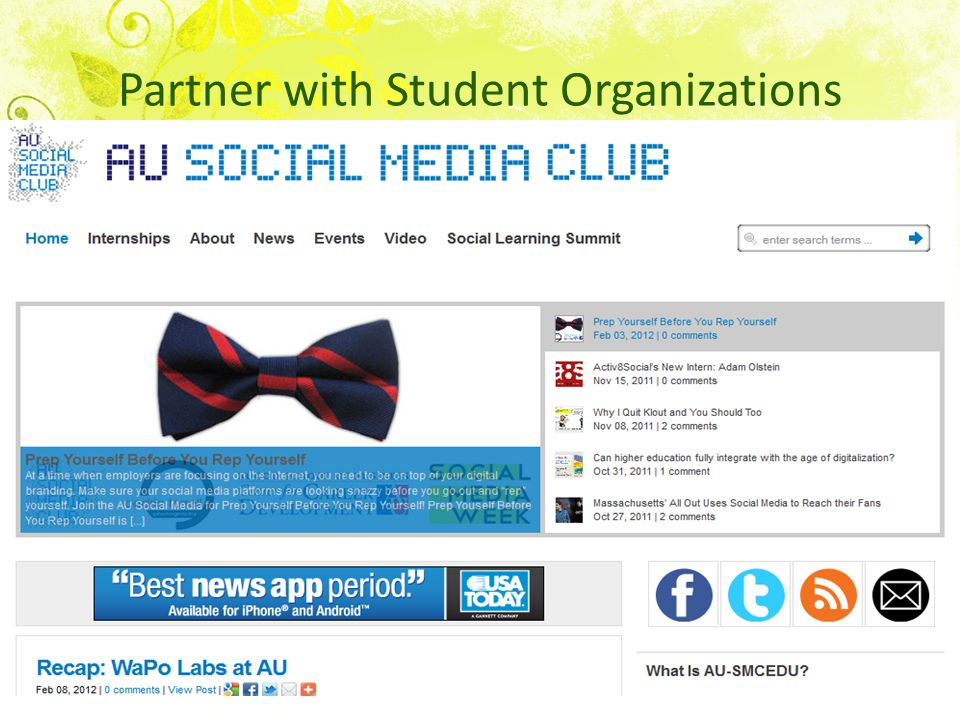 Partner with Student Organizations