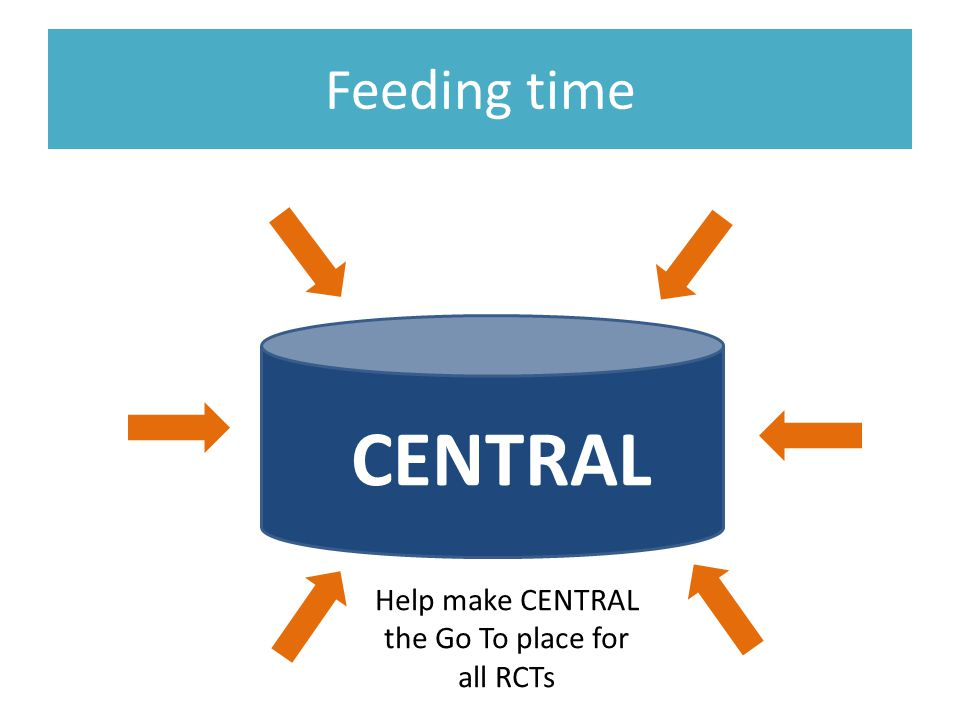 Feeding time CENTRAL Help make CENTRAL the Go To place for all RCTs