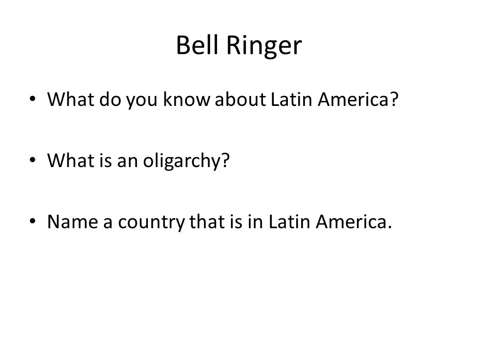 Bell Ringer What can cause instability in the government.