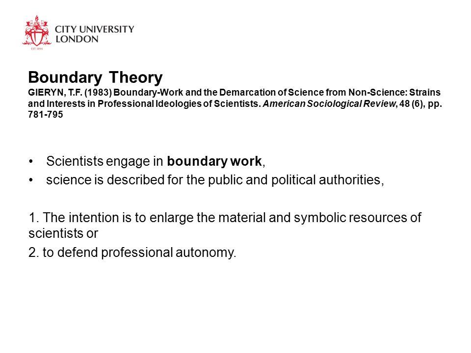 Boundary Theory GIERYN, T.F.
