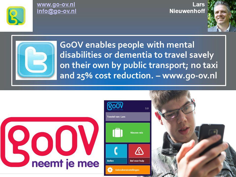USECASE: JEREMY www.go-ov.nl, info@go-ov.nlwww.go-ov.nl Jeremy is 14 years of age, and autistic.