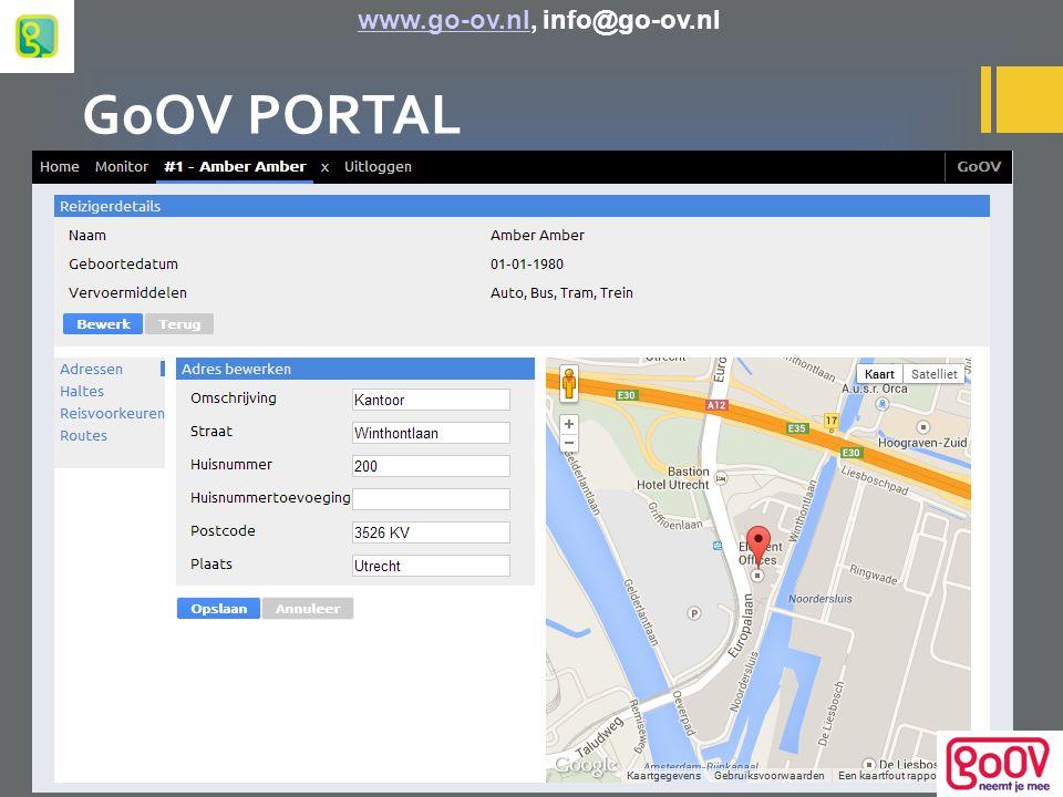 GoOV PORTAL www.go-ov.nl, info@go-ov.nlwww.go-ov.nl
