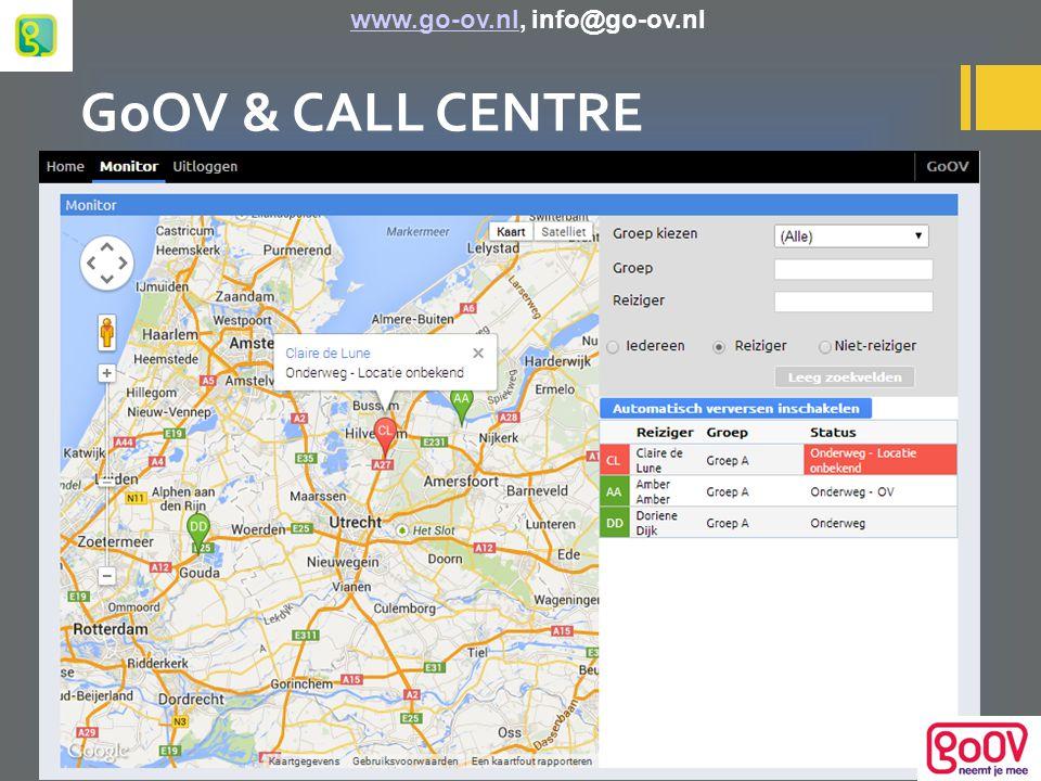 GoOV & CALL CENTRE www.go-ov.nl, info@go-ov.nlwww.go-ov.nl
