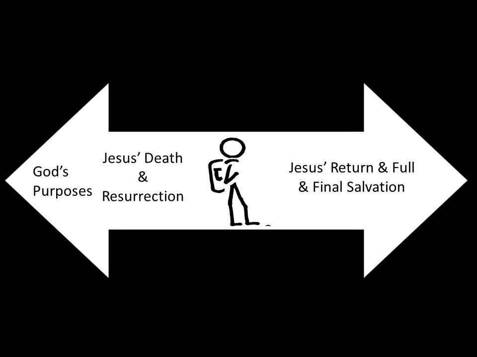God's Purposes Jesus' Death & Resurrection Jesus' Return & Full & Final Salvation
