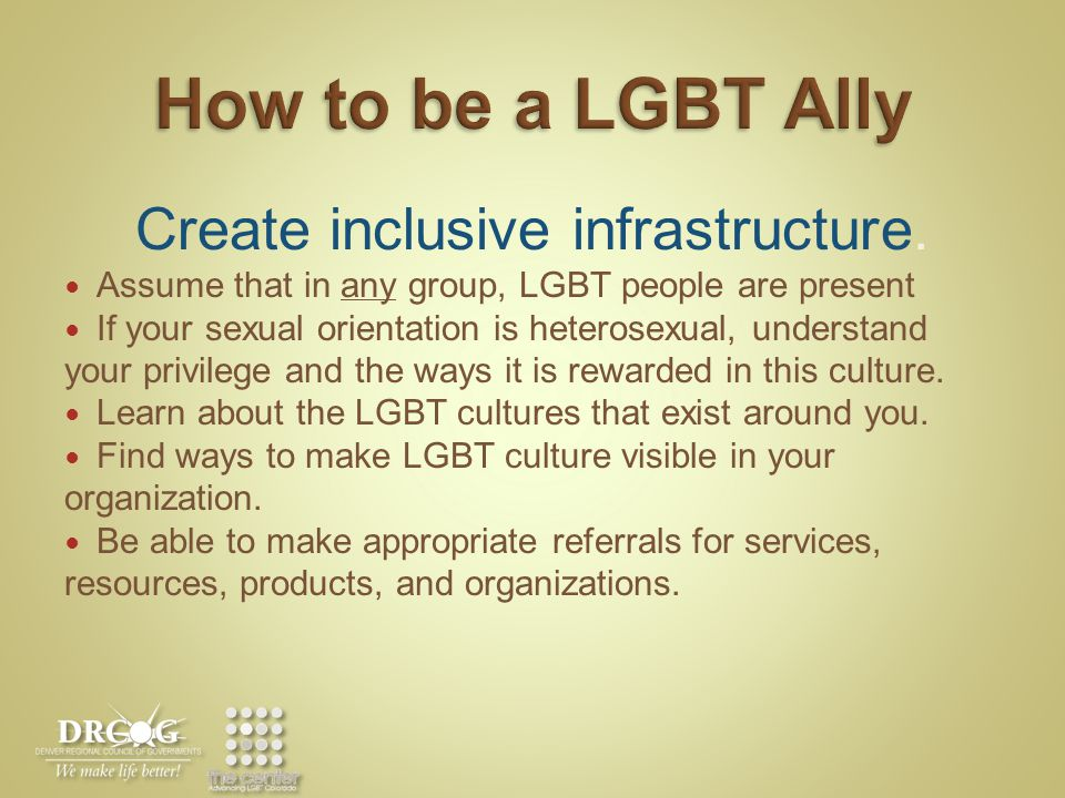 Create inclusive infrastructure.