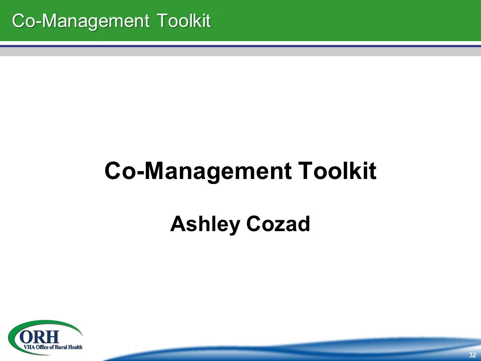 32 Co-Management Toolkit Ashley Cozad