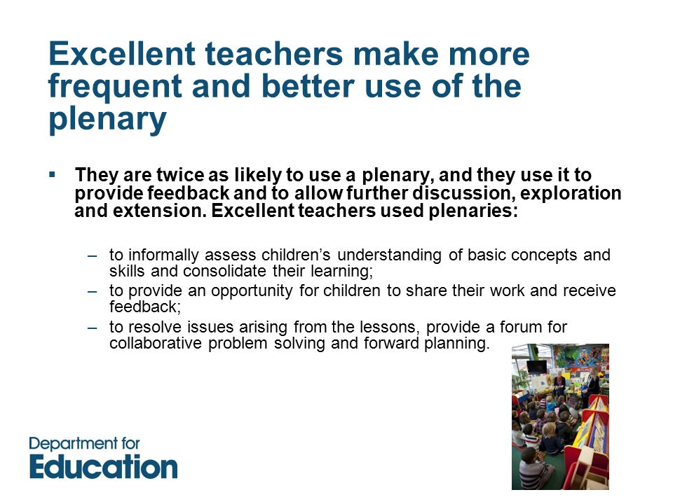 How you can use the evidence in this study  Which elements do you recognise in your classrooms.