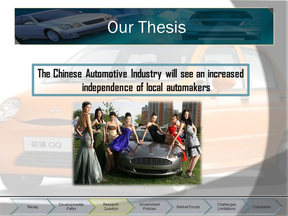 Our Thesis Recap Developmental Paths Research Question Government Policies Market Forces Challenges Limitations Conclusion