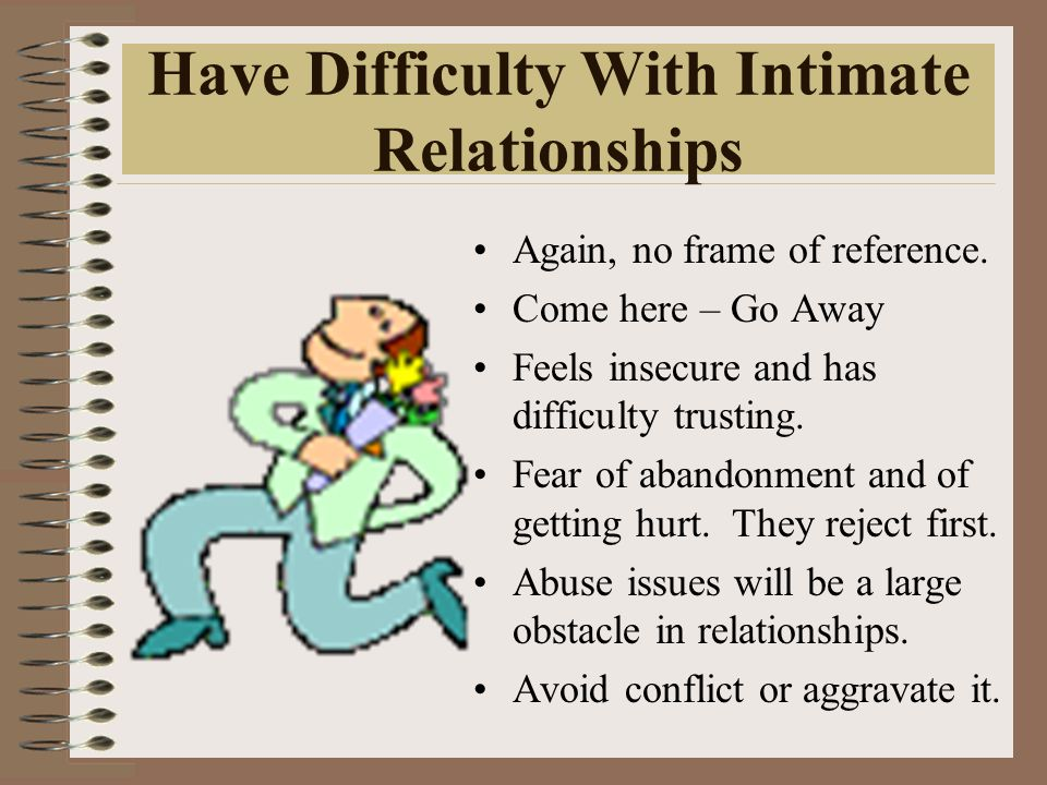Have Difficulty With Intimate Relationships Again, no frame of reference.