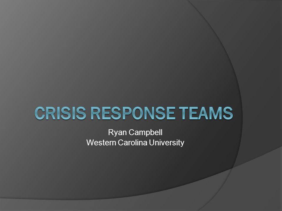 Definition:  Crisis response teams are groups of dedicated, professionally trained adults who provide 24-hour on-scene crisis assistance services to victims of traumatic events.