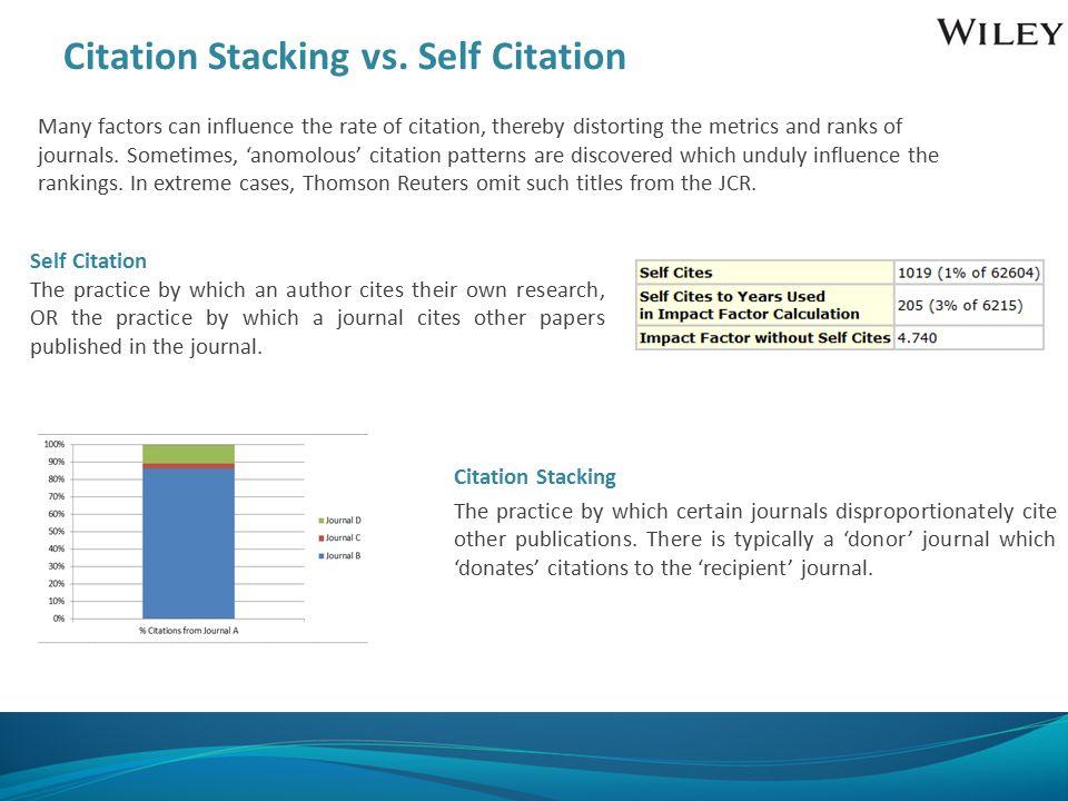 Citation Stacking vs.
