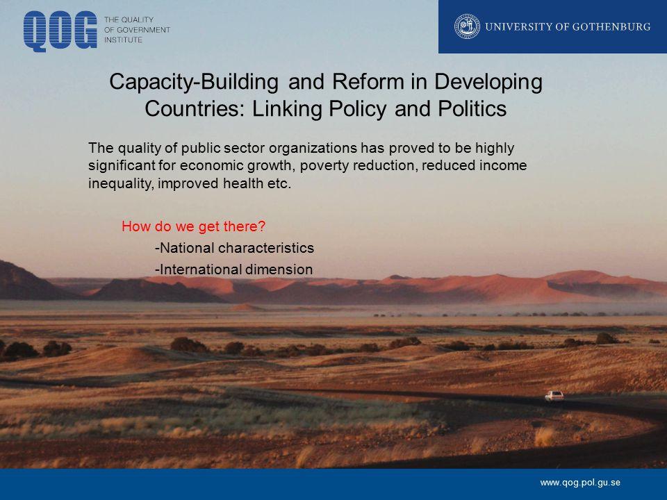www.qog.pol.gu.se Key research questions How do public officials (i.e.