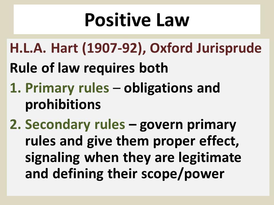 Positive Law H.L.A.