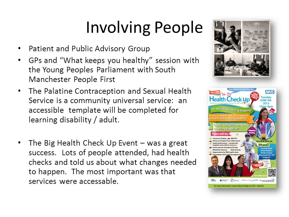 """Involving People Patient and Public Advisory Group GPs and """"What keeps you healthy"""" session with the Young Peoples Parliament with South Manchester Pe"""