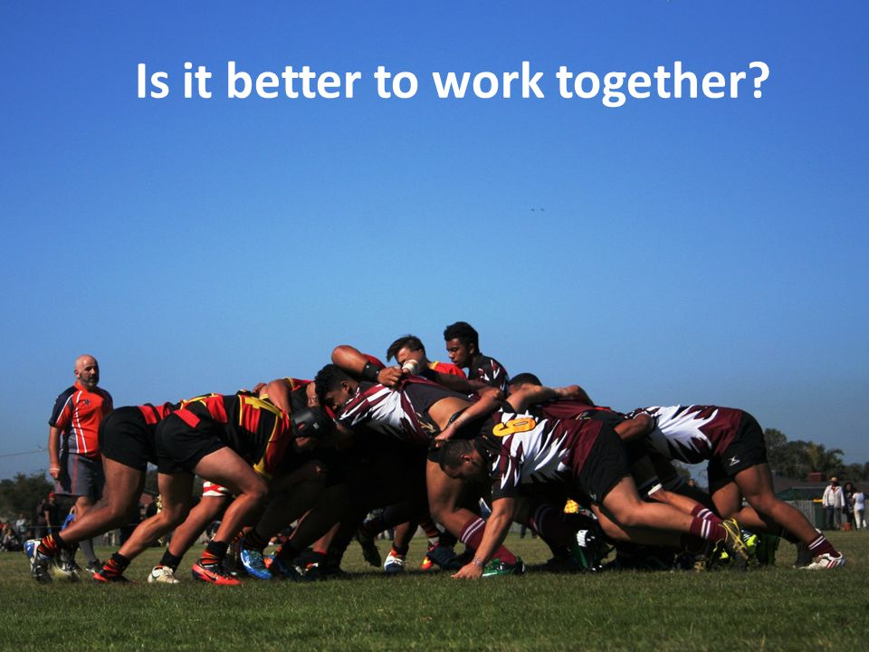Is it better to work together