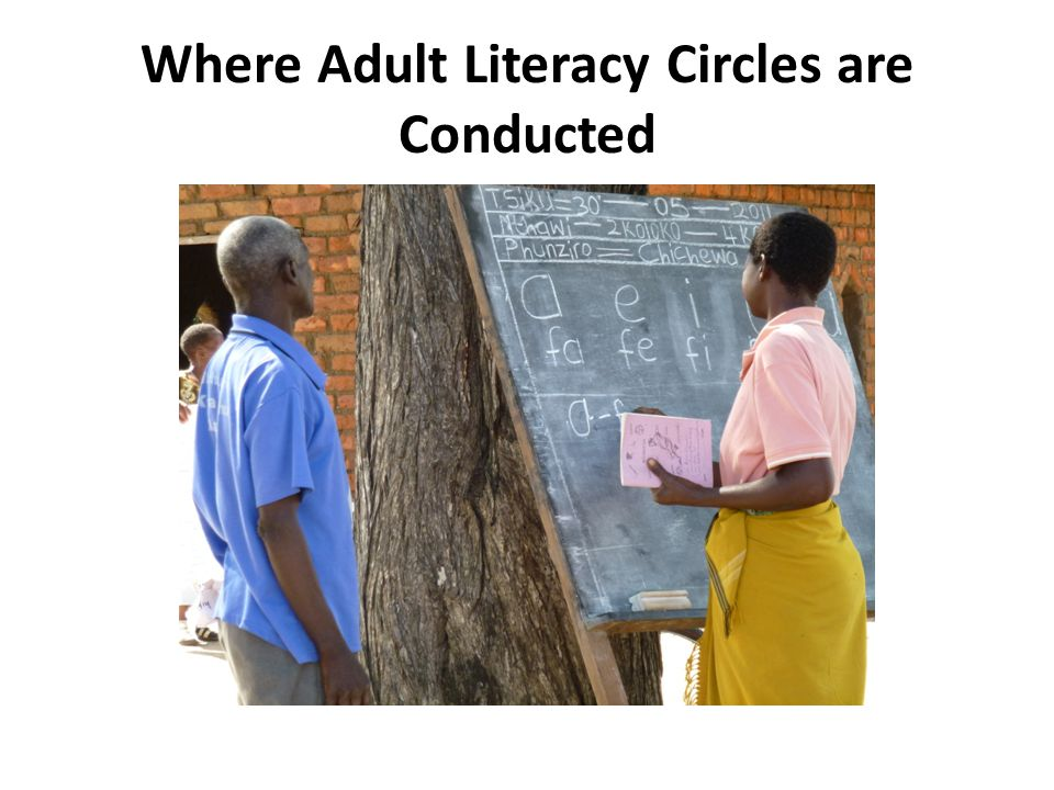 Where Adult Literacy Circles are Conducted