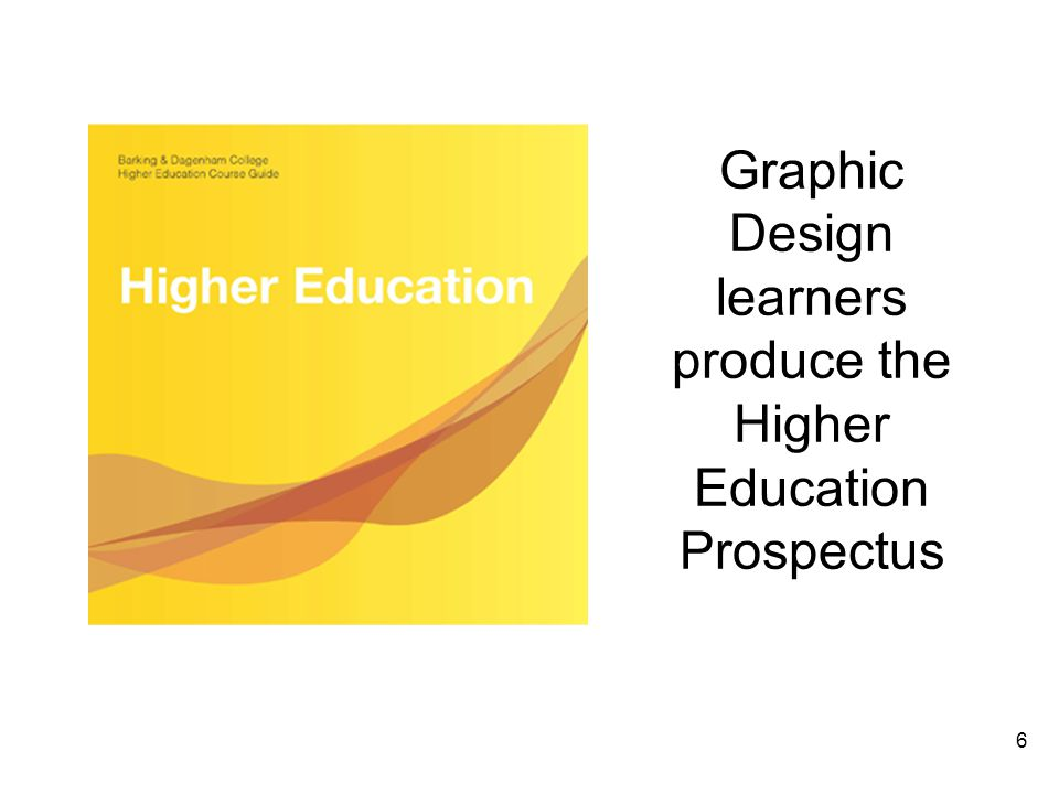 6 Graphic Design learners produce the Higher Education Prospectus